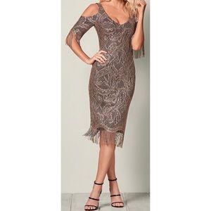 NEW Gold Lace Fringe Tassel 1920 Gatsby Dress